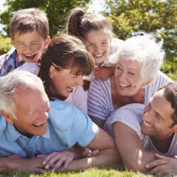 multi-generation-family-piled-garden-260nw-284520884